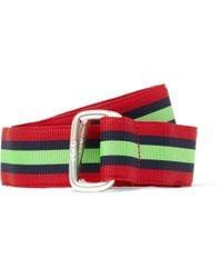Polo Ralph Lauren | Red Striped Grosgrain Belt for Men | Lyst