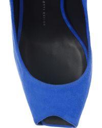 Giuseppe Zanotti - Blue Suede Platform Sandals - Lyst