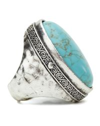 Lucky Brand - Blue Large Turquoise Stone Ring - Lyst