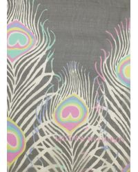 Matthew Williamson | Multicolor Peacock Chiffon Scarf | Lyst
