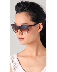 Alexander McQueen - Green Cat Eye Sunglasses - Lyst