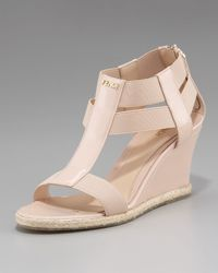 Fendi | Natural Banded-strap Wedge | Lyst