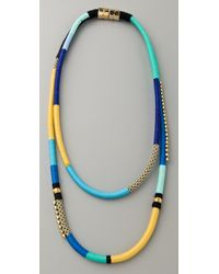 Holst + Lee - Blue Two String Multi-strand Necklace - Lyst