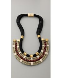 Holst + Lee - Black Plate Necklace - Lyst