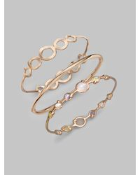 Ippolita - Metallic Rose Carino Double Tiara Bangle Bracelet - Lyst