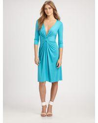 Issa - Blue Silk Dress - Lyst