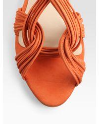 Loeffler Randall - Orange Filippa Mignon Flat Sandal - Lyst