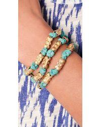 Lulu Frost - Green Bells Beach Wrap Bracelet - Lyst
