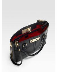 MILLY - Black Mina Nappa Tote Bag - Lyst