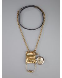 Munoz Vrandecic - Metallic Amor Yodio Necklace - Lyst