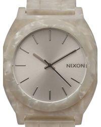 Nixon   Beige Time Teller Watch   Lyst