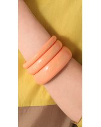 See By Chloé - Orange Set Of 3 Bangles - Lyst
