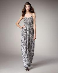 Theory - Black Flower Wall Maxi Dress - Lyst