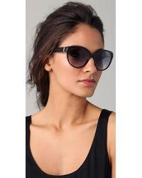 Saint Laurent | Black Cat Eye Sunglasses | Lyst