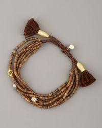 Tai | Brown-bead Tassel Bracelet | Lyst