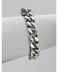 Stella McCartney | Metallic Faux Leather Accented Link Chain Bracelet | Lyst