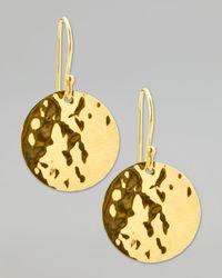 Ippolita   Metallic Hammered Drop Earrings   Lyst