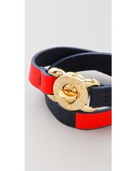 Marc By Marc Jacobs - Red Katie Leather Double Wrap Bracelet - Lyst