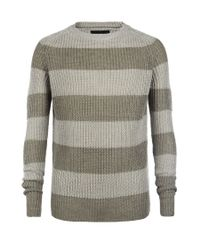 AllSaints | Gray Nautic Crew Jumper for Men | Lyst