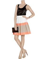 Jonathan Saunders - White Padbury Striped Cotton Skirt - Lyst