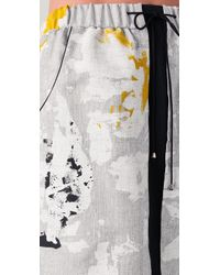 Lela Rose | Gray Drawstring Sport Skirt | Lyst