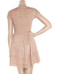 Philosophy di Alberta Ferretti - Pink Metallic Crochet-knit Dress - Lyst