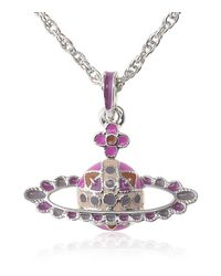 Vivienne Westwood | Purple Balkan Folks Mini Bas Necklace | Lyst