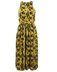 Yigal Azrouël - Yellow Printed Silk Dress - Lyst