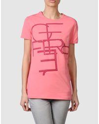 Gianfranco Ferré   Pink Gf Ferre - Short Sleeve T-shirts   Lyst