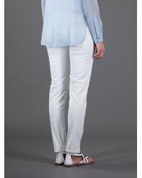 Ralph Lauren   White Skinny Ankle Trouser   Lyst