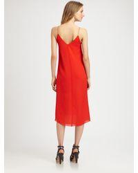 T By Alexander Wang   Red Silk Vback Dress   Lyst