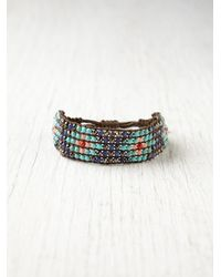 Free People | Blue Narrow Beaded Friendship Bracelet | Lyst