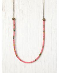 Free People - Pink Neon Tide Layering Necklace - Lyst