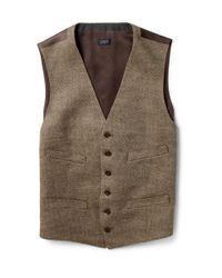J.Crew | Brown Harvest Herringbone Vest for Men | Lyst