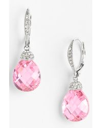 Nadri   Metallic Faceted Crystal Drop Earrings   Lyst