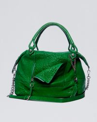 Olivia Harris | Green Zipfront Trapezoid Satchel | Lyst