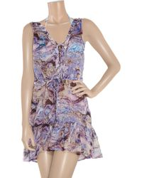 Seventh Wonderland - Multicolor Rever Marbled-print Silk Dress - Lyst