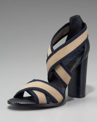 Tory Burch | Blue Laurie High Heel Sandal | Lyst