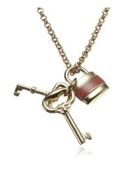 Chloé - Metallic Padlock Necklace - Lyst