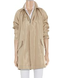 Ralph Lauren Black Label - Natural Devora Silk-faille Trench Coat - Lyst