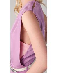 3.1 Phillip Lim | Purple V Neck Jumpsuit | Lyst