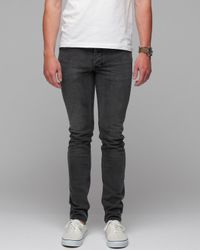 Insight Gray The City Riot Slim Fit Jeans in Black Acid for men
