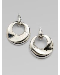 John Hardy | Metallic Sterling Silver Door Knocker Earrings | Lyst