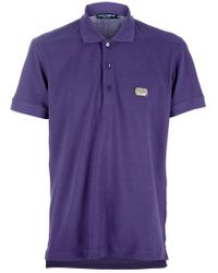 Dolce & Gabbana | Purple Polo Piquet for Men | Lyst