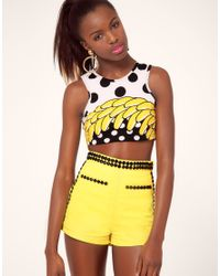 db2b19541cda2 Lyst fairground bananas crop top in yellow jpg 200x250 Banana crop top