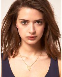 Zoe & Morgan - Metallic Zoe Morgan Mini Gypsy Love Necklace - Lyst