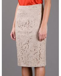 Burberry | Beige Lace Skirt | Lyst