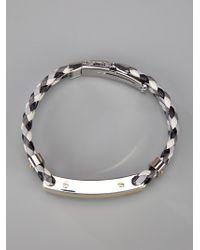 Dolce & Gabbana - Black Logo Bracelet for Men - Lyst