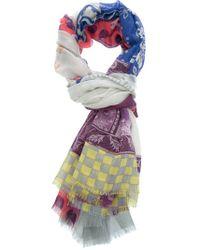 Etro   Multicolor Polka Dot Paisley Scarf   Lyst
