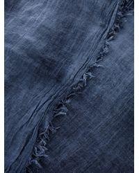 Jil Sander | Blue Frayed Scarf | Lyst
